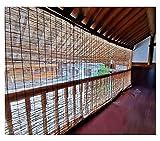 Persianas de bambú natural personalizables, tonos de rodillos de lámina, cortina a prueba de polvo, cortinas a prueba de polvo, protector solar / aislamiento térmico, persianas romanas para el hogar,