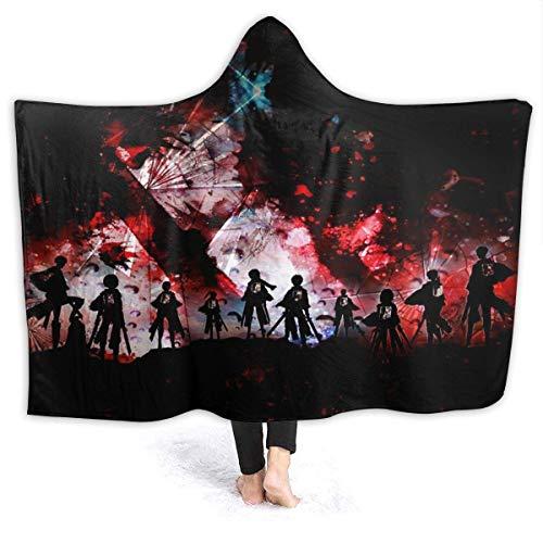 Attack On Titan coperta super morbida flanella soffice coperta traspirante leggera coperta per yoga, campeggio, picnic, cinema viaggi, spiaggia, decorazione per la casa, dimensioni 152,4 x 127 cm