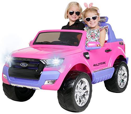 Actionbikes Motors Kinder Elektroauto Ford Ranger Wildtrak - Allrad 4x4 - Touchscreen - 2 Sitzer - 4 x 45 Watt Motor- 2,4 Ghz Rc Fernbedienung - Elektro Auto für Kinder ab 3 Jahre (Allrad Pink)