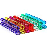 GREATMAG Push Pin Magnets, Whiteboard Magnets, 56 Pack 7 Assorted Color Magnetic Push Pins, Perfect for Fridge Magnets, Map Magnets, Classroom Magnets, Office Magnets