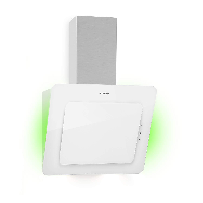 Klarstein Helena 60 extractor de humos - 60 cm, clase A, 595 m³/h, luz ambiental RGB, extracción y ventilación, iluminación LED, control táctil, extractor de humos de pared, blanco: Amazon.es: Hogar