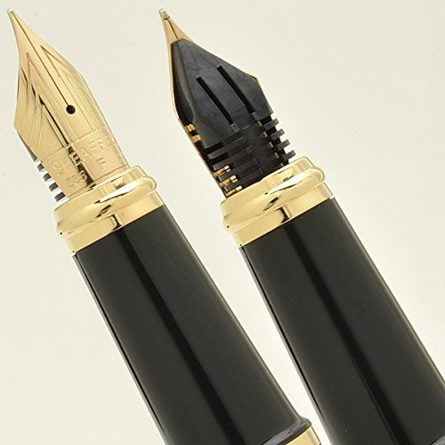 Cross Sheaffer Executive Companion Black Lacquer Signature Prelude Collection with 22KT Gold appointments, Solid and Stamped 14KT Gold Medium Nib Fountain Pen