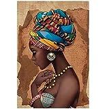 LIPENGYU Impression sur Toile Peinture Murale Africaine Art peintures Uniques Salon Moderne Affiche de Haute qualité et Impressions 23,6'x 35,4' (60x90cm)sans Cadre