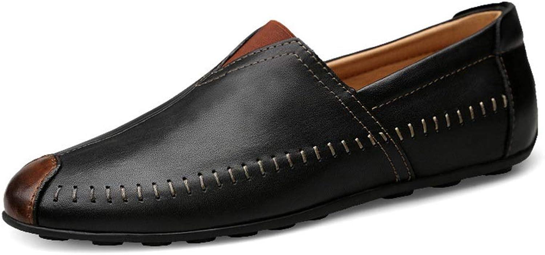England England Herren Freizeitschuhe Erbsen Schuhe Herrenschuhe Leder Lazy Schuhe,Grille Schuhe (Farbe   schwarz schuhe, Größe   44)  tolle angebote