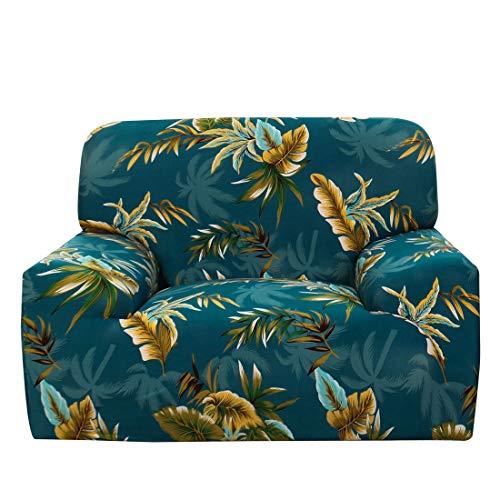 DealMux Funda elástica para sofá de 1 plaza, tela de poliéster y elastano, funda para sofá de 1 pieza, funda elástica para sofá, protector de muebles con una funda de cojín #H de 88 a 137 cm
