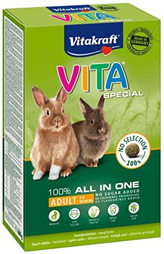 Vitakraft–25314–Vita Especial Conejos Regular–600g–Lote de 5