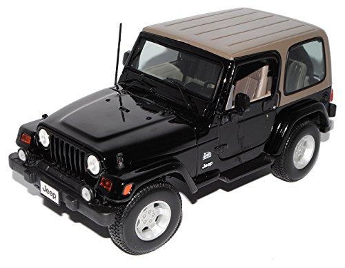 test Maisto Jeep Wrangler Sahara Schwarz Hardtop Automodell 1/18 Automodell Deutschland