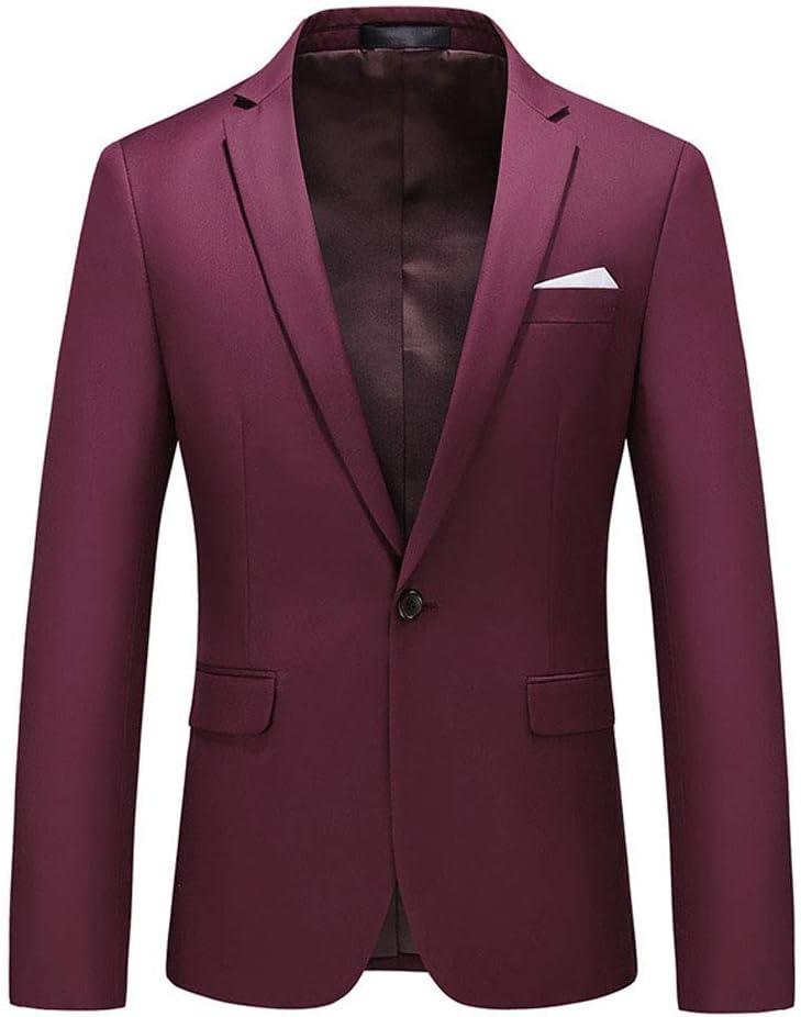 WCNMD Men's Casual Blazer Jacket, Men's Professional fit Suit, Gentleman's Suit, one Button blazer-C2-6X-Large