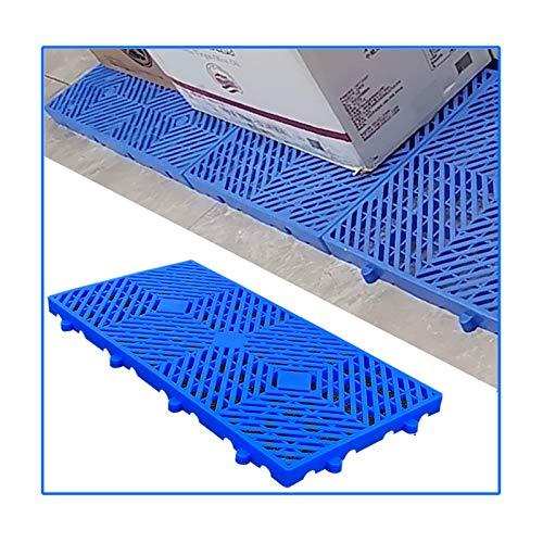 LIANGJUN-Palés Pallet plástico, Almacenamiento Bienes Caja Rejillas Paletas De Plástico, Resistente Al Desgaste Impermeable Cuadrícula Almohadillas para Interior Al Aire Libre