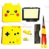Oulekai Maoyi New Gameboy Advance GBA SP Full Shell Case Cover Yellow Color For Pikachu Limited Versions With X/Y Screwdrivers