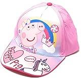 Peppa-Pig - Gorra para niña, talla 51 cm, 3 a 5 años, color azul y rosa rosa 51 cm