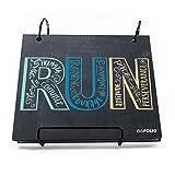 Gone For a Run Running BibFOLIO | Runner's Race Bib Holder and Album| Chalkboard Inspire t...