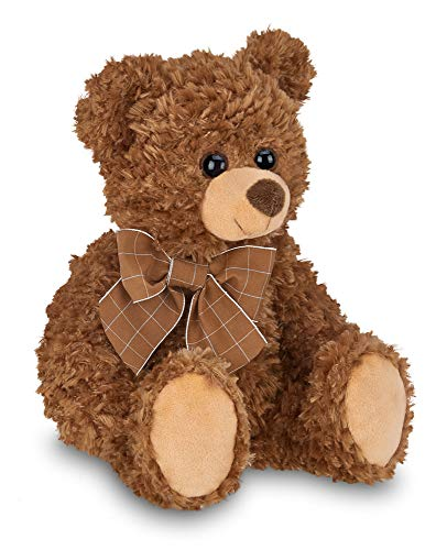 Bearington Lil' Reggie Brown Plush Stuffed Animal Teddy Bear, 12 inches