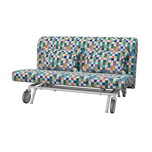 Soferia - IKEA PS Funda para sofá Cama de 2 plazas, Mozaik White