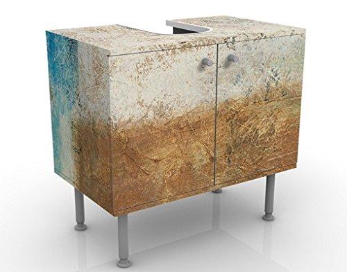 Apalis Waschbeckenunterschrank - Elements of Life - Badschrank Beige, Größe: 55cm x 60cm