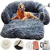 YZBBSH Sofá para Perros Felpa Ultra Suave Colchonetas para Perros y Gatos,Cama para Perros Impermeable, Antideslizante, Desmontable, Lavable,Dark Gray,76cm
