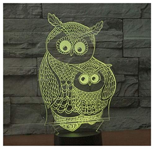 Hyvaluable 3D 3D LED Nachtlicht Owl Baby Mit 7 Farben Licht Für Heimtextilien Lampe Erstaunliche Visualisierung Optische Täuschung Ehrfürchtig -Spezial- & Stimmungsbeleuchtung