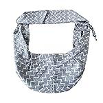 TIGER MAMA Reversible Pet Sling Carrier for Pets Up to 12+ lbs (Adjustable Shoulder Strap Version) 12