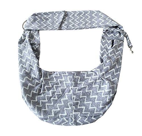 TIGER MAMA Reversible Pet Sling Carrier for Pets Up to 12+ lbs (Adjustable Shoulder Strap Version) 5