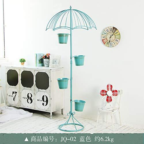 Don997gfoh08yewi paraguas de hierro forjado americano, soporte de flores para el hogar, sala de estar, balcón, floristería, tienda de flores, decoración creativa para el suelo, decoración grande de plantas JQ-02