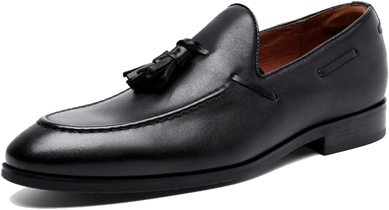 RSHENG Herren Casual Müiggnger Einfache Mode Fransen Schuhe Kleid Business Herren Arbeitsschuhe