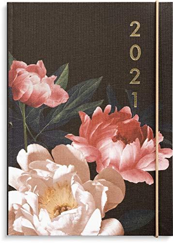 Burde Paradise Planner | A5 Kalender | 2021 Kalender | Blumenkalender | Wochenformat für das Jahr 2021 | 20 Dezember 2020 bis 9 Januar 2022