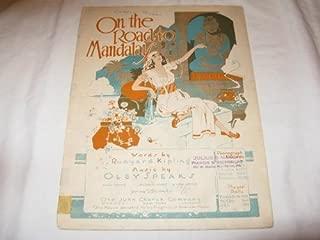 ON THE ROAD TO MANDALAY OLEY SPEAKS 1907 SHEET MUSIC FOLDER 432 SHEET MUSIC