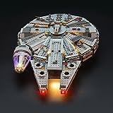LIGHTAILING Conjunto de Luces (Halcón Milenario) Modelo de Construcción de Bloques - Kit de luz LED Compatible con Lego 75105 (NO Incluido en el Modelo).