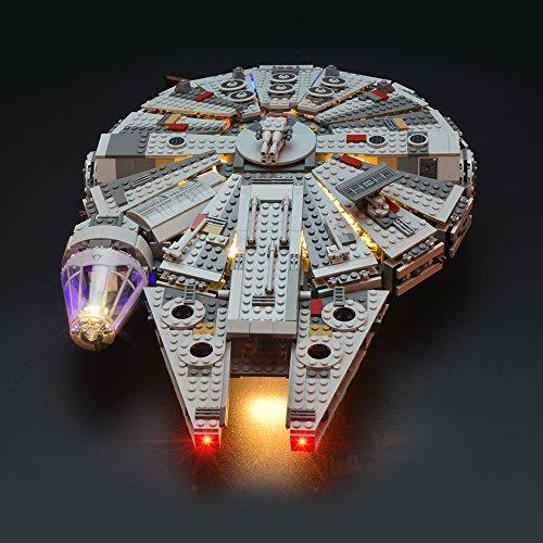 LIGHTAILING Set di Luci per (Star Wars Millennium Falcon) Modello da Costruire - Kit Luce LED Compatibile con Lego 75105 (Non Incluso nel Modello)
