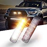 KOYOSO Auto Luce Stroboscopica Emergenza, 12V-24V Lampeggiante Emergenza Avvertimento Luci Ambra 6 LED Strobo Lampeggiante per Camion Autobus, 2 Pezzi
