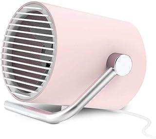 ZXCV Ventilador portátil pequeño Escritorio, Ventilador USB Personal con Cuchillas de Doble turbina, silencioso circulación de Aire ciclón tecnología en el hogar, Oficina JCY (Color : Silver)