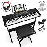 Best Choice Products 61-Key Beginners Electronic Keyboard Piano Set w/LED, 3 Teaching Modes,...