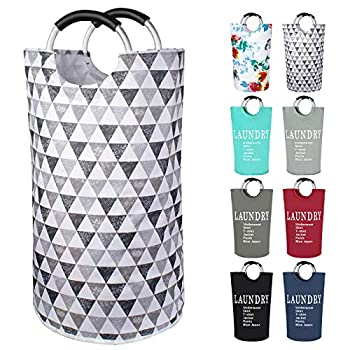 Dalykate Large Laundry Basket 82L Collapsible Oxford Fabric Laundry Hamper Foldable Clothes Laundry Bag with Handles Waterproof Washing Bin Portable Dirty Clothes Basket for College Dorm Family