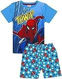 Marvel Spiderman Pijamas Niños Niños Azul Pijama de algodón Corto Ropa de Dormir 3-4 Años