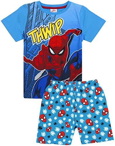 Marvel Spiderman Pijamas Boys Kids Blue Corth Short PJS Nightwear 3-4 años