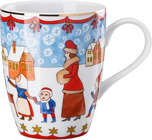 Hutschenreuther 02476-727312-15505 Weihnachtsmarkt 0,30 l Becher mit Henkel, Porzellan