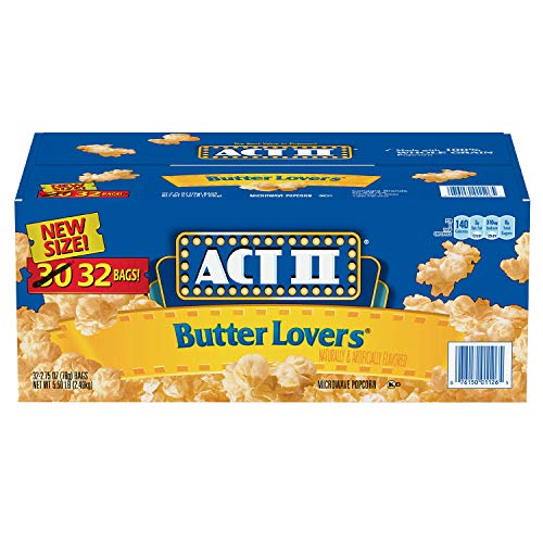 Act II Butter Lovers Mikrowellen-Popcorn, 32 Packungen