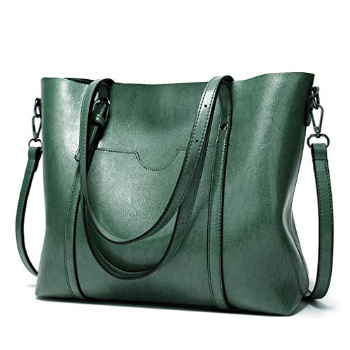 ❤ FASHION DESIGN: Pahajim large tote handbag has two handle straps which can adjust length and they are long enough to carry on shoulder. Furthermore, this hand bag has a removable matching crossbody strap. You can carry this bag in 2 ways: shoulder ...