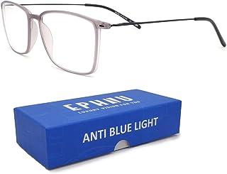 EPHIU Blue Light Blocking Glasses Square Eyeglasses Frame for Womens Men Anti Eyestrain Reading- Non Prescription