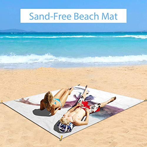 Best Bargain Large Waterproof Outdoor Picnic Blanket, Illustration of Male Stag with Soft Pale Color...
