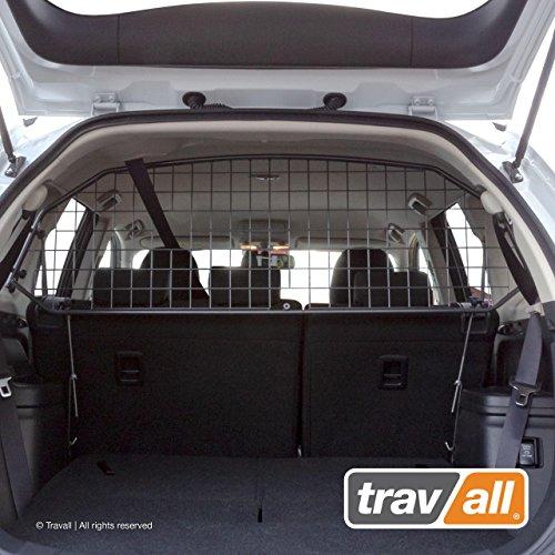 Travall Guard Grilles Pare-Chien Compatible avec Mitsubishi Outlander (2012 et Ulterieur) Phev (2014 et Ulterieur) TDG1421 - Grille de Separation avec Revêtement en Poudre de Nylon