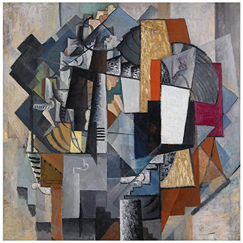 LegendArte Stampa su Tela - Bureau And Room - Kazimir Malevich cm. 60x60 - Quadro su Tela,...