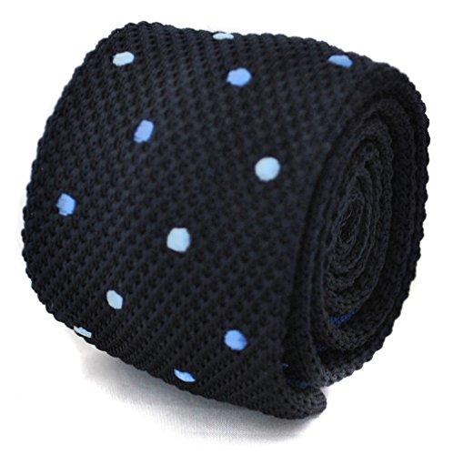 Frederick Thomas de punto corbata, azul marino con lunares, color azul