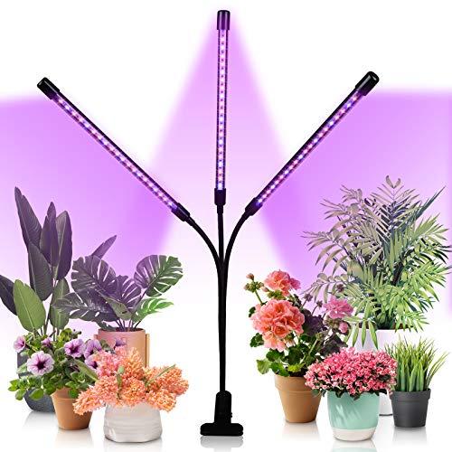 Hengda 30W Pflanzenlampe LED, Dimmbar Pflanzenlicht mit Timer, Pflanzenleuchte mit Rot Blau Licht Vollspektrum Grow Lampe für Zimmerpflanzen Gemüse und Blumen im Gewächshaus, 3 Arten von Modus
