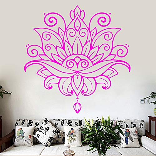 HNXDP Kreative Blumenmuster Design Wandaufkleber für Wohnzimmer Wand Hintergrund Vinyl selbstklebende Kunst Home Decor wasserdichtes Poster 43cmx43cm