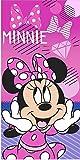 Toalla de Playa o Piscina Infantil de Disney Licencia Oficial (Minnie Mouse A)