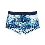 Hom Madison Trunk, Boxer Homme, Bleu (Imprimé Building Bleu/Blanc 00bi), Large (Taille fabricant:L)