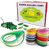 Paper Quilling Set Strisce di carta per quilling, quilling carta 5mm 30 colori, 3600pcs 54 cm x 5 mm