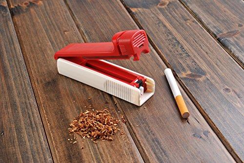 The Khan Outdoor & Lifestyle Company Machine à Tuber Les Cigarettes/tubeuse de Cigarettes (11.5cm x 3cm x 4cm), Plastique, Jaune, 5810-02 DE