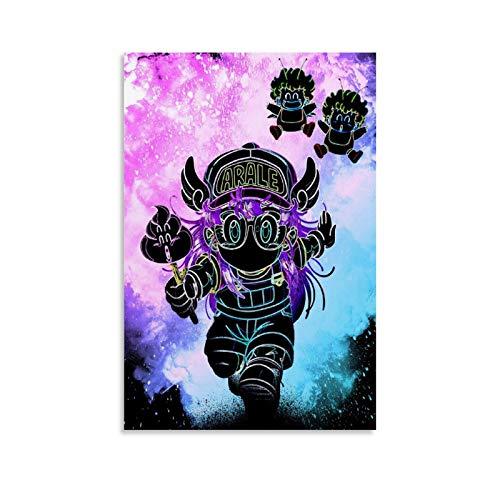 GUKEY Soul of the Robot Girl Arte Pop Artwork Abstracto Divertido Fantasía Art Canvas Póster y arte de pared Impresión moderna para dormitorio familiar Pósters 30 x 45 cm